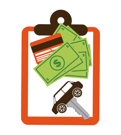 car bills: car concept design, vector illustration eps10 graphic