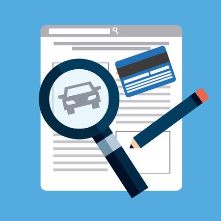 dealership: car concept design, vector illustration eps10 graphic