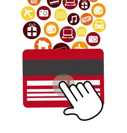 commerce electronique: conception de commerce �lectronique. Illustration