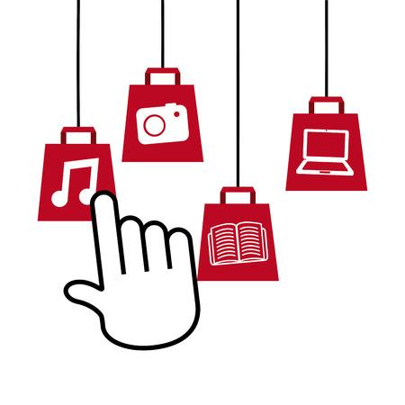 electronic commerce: electronic commerce design. Illustration