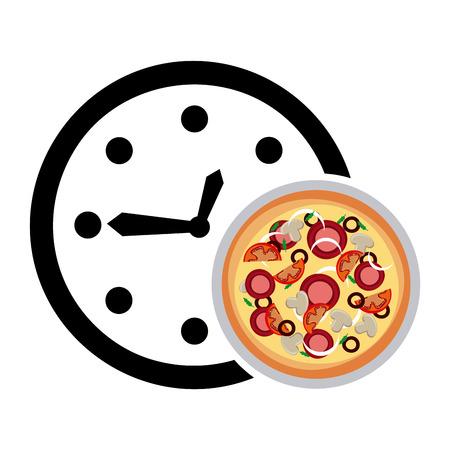 pizza delivery: delivery food design. Illustration