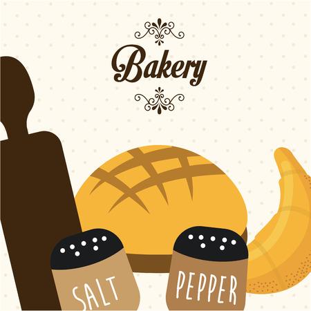 pepper grinder: bakery fresh design. Illustration
