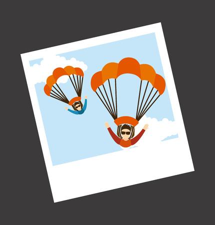 parachute fly design. Stock Vector - 38055993