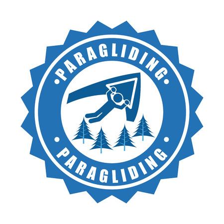 paragliding: paragliding sport  design.