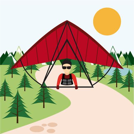 gliding: paragliding sport  design.
