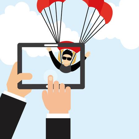 fallschirmj�ger: Fallschirm-fly-Design.