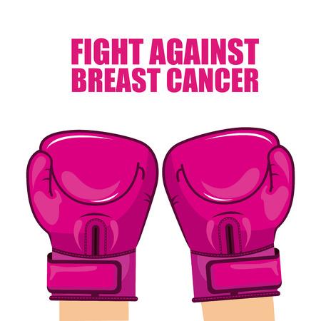 cancer awareness ribbon: breast cancer design.
