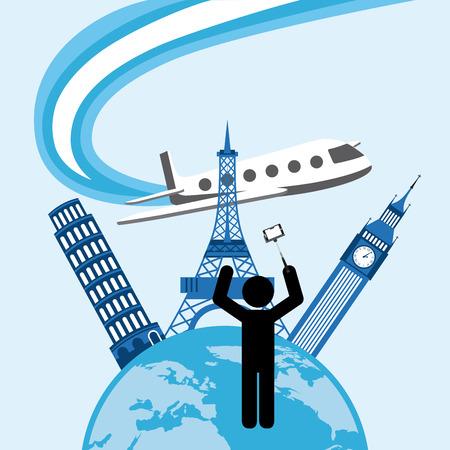 bigben: travel concept design. Illustration