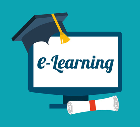 e-learning concept design illustration Vector