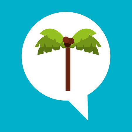 consept: beach palm tree icon design illustration Illustration