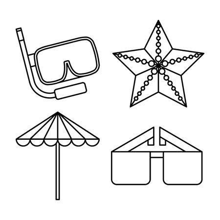 consept: beach icon design