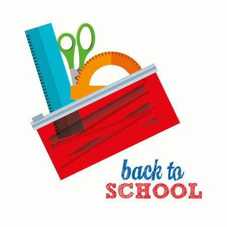 school frame: back to school design illustration Illustration