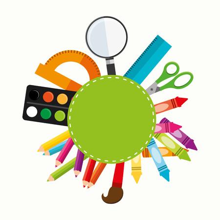 schoolbenodigdheden ontwerp Stock Illustratie