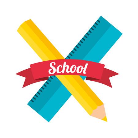 school supplies design Vector