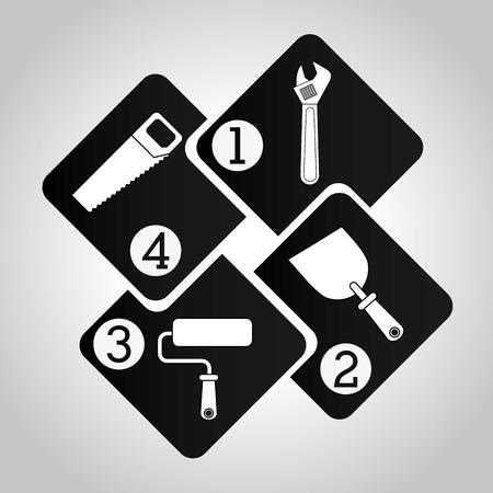 herramientas de construccion: construcción infografía, ilustración, diseño