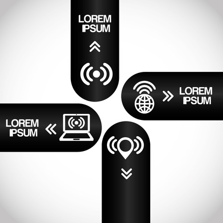 antena: wifi infographics design illustration