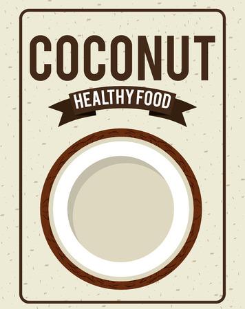 coconut fruit: fresh coconut fruit design illustration
