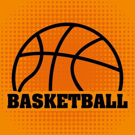 balon de basketball: baloncesto, ilustración, diseño