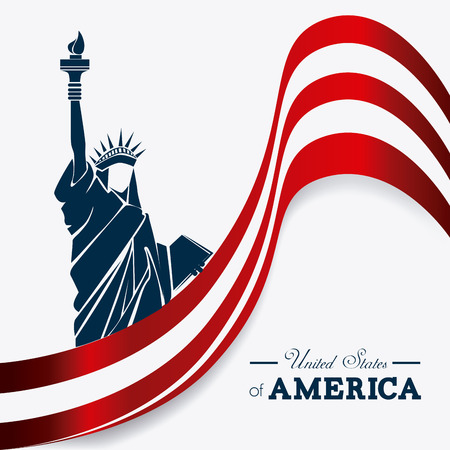 USA design over white background Vector