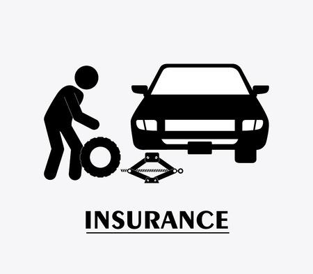 seguros autos: Dise�o seguro de coche m�s de fondo blanco Vectores