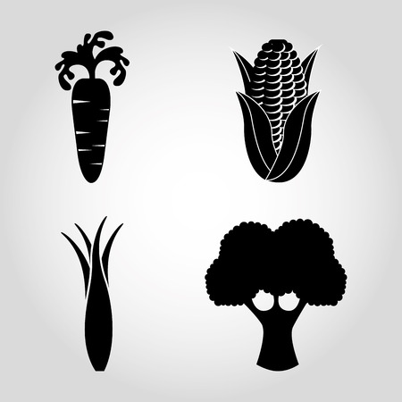 vegetables icons design Vector