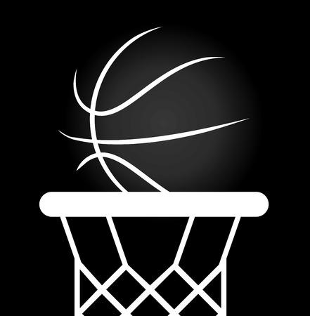 balon de basketball: diseño campeonato de baloncesto