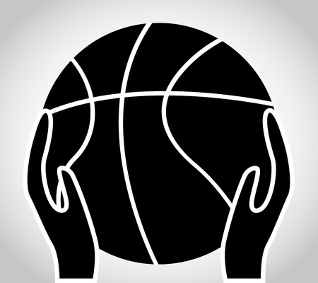 balon baloncesto: diseño campeonato de baloncesto, ilustración vectorial gráfico eps10 Vectores