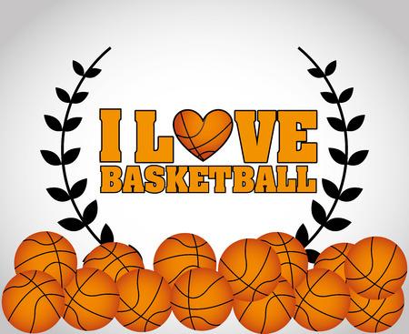 balon baloncesto: diseño campeonato de baloncesto