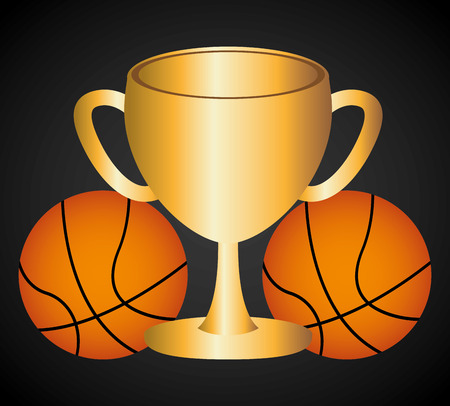 balon de basketball: diseño campeonato de baloncesto, ilustración vectorial gráfico eps10 Vectores