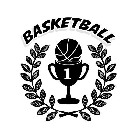 balon de basketball: dise�o campeonato de baloncesto, ilustraci�n vectorial gr�fico eps10 Vectores