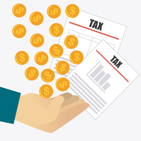 Taxes design over white background