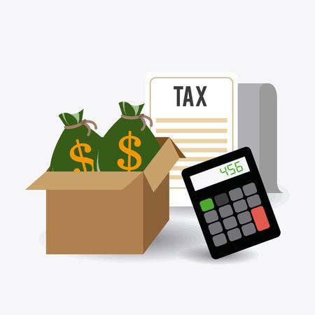 Taxes design over white background, vector illustration.
