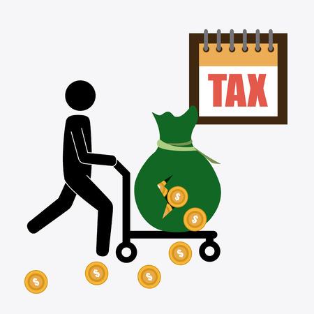 millonario: Dise�o de Impuestos sobre el fondo blanco Vectores