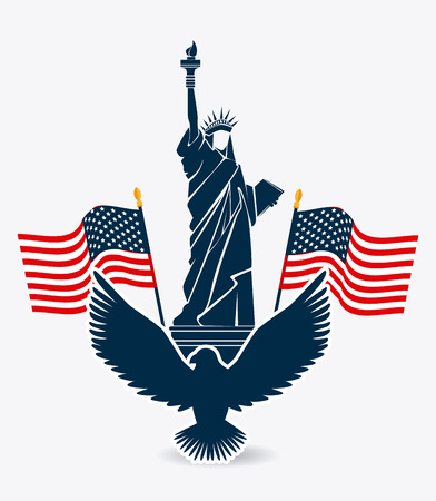 USA design over white background