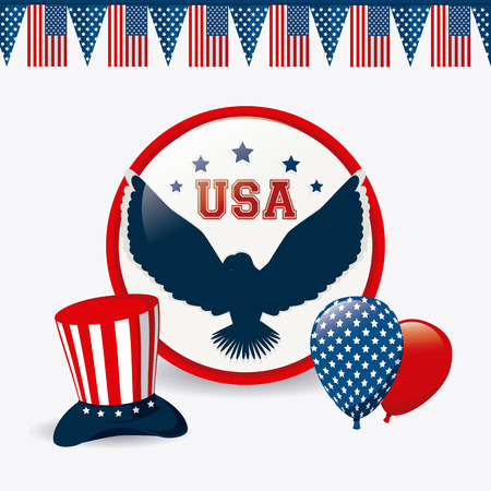 stipes: USA design over white background