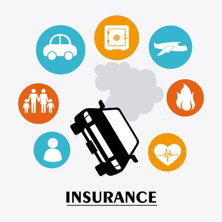 car accident: Insurance design over white background, vector illustration.