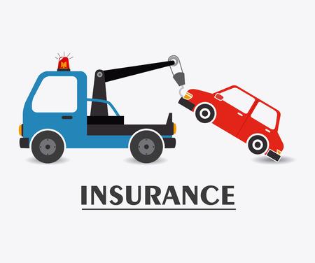 Insurance Design auf weißem Hintergrund, Vektor-Illustration.
