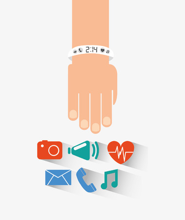 wristband: wearable technology design Illustration