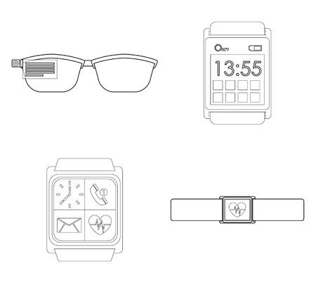 wearable: wearable technology design Illustration