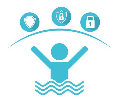 swiming: insurance concept design