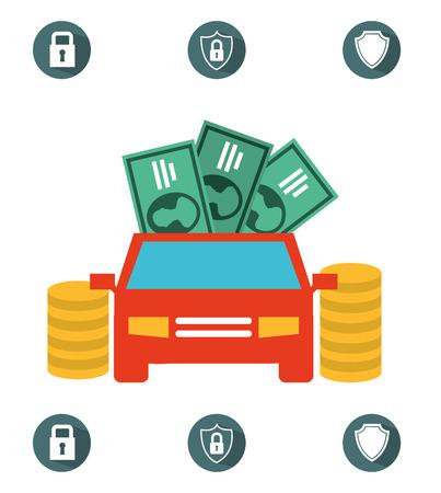 car bills: insurance concept design