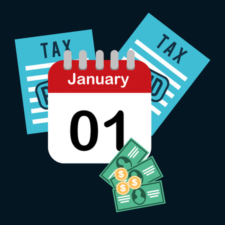 january 1: pay taxes design, vector illustration eps10 graphic Illustration