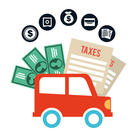 car bills: pay taxes design