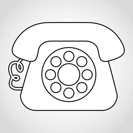 old telephone: old telephone design Illustration