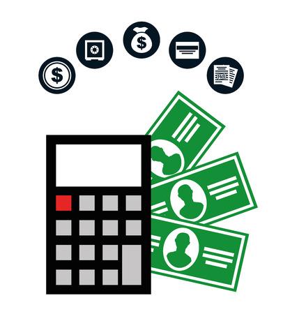 financial advisors: money concept design