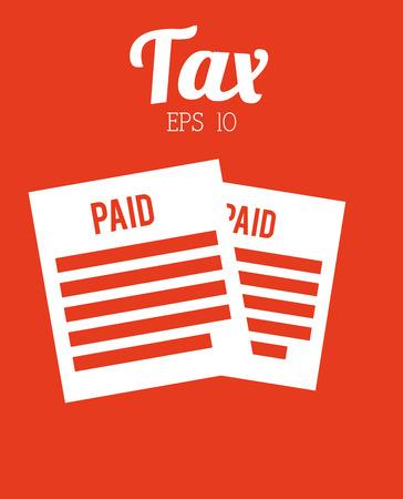 taxation: tax icon design Illustration