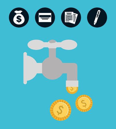 money concept design, vector illustration eps10 graphic Vector