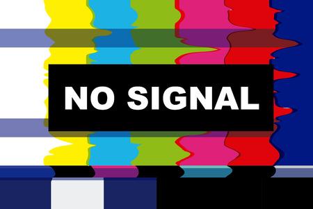 신호 없음 디자인 TV