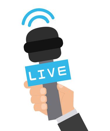 interview tv design Vectores