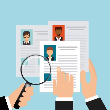 Suche Job-Design Vektorgrafik